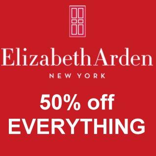 50% off all Elizabeth Arden