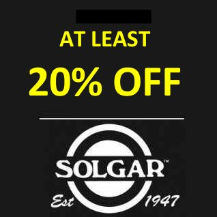 20-33% off ALL Solgar products